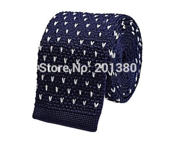 striped knitted tie skinny neck ties for men wool Crochet adult necktie cravat gravata corbatas(China (Mainland))