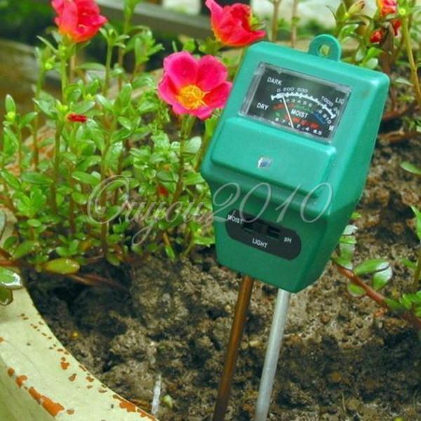 New Arrival 3 in 1 PH Tester Soil Detector Water Moisture Light Test Meter Sensor for Garden Plant Flower(China (Mainland))