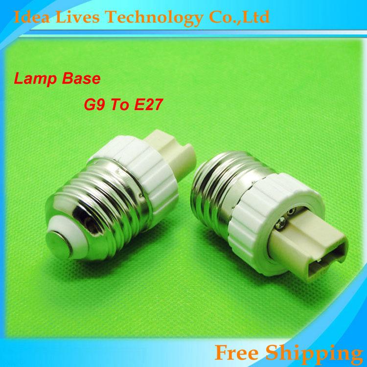 LED Lamp Base G9 to E27 LED Bulb E27 Socket Adapter Home Lighting Bulb Holder,1pcs/lot(China (Mainland))