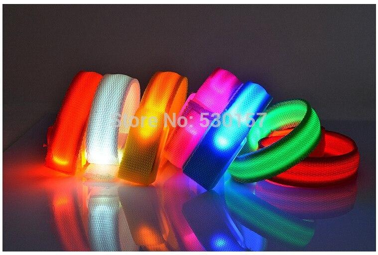 200pcs* Flashing Light LED Wrist Band, glow sticks in bar birthday party Warning Cycling in Night(China (Mainland))