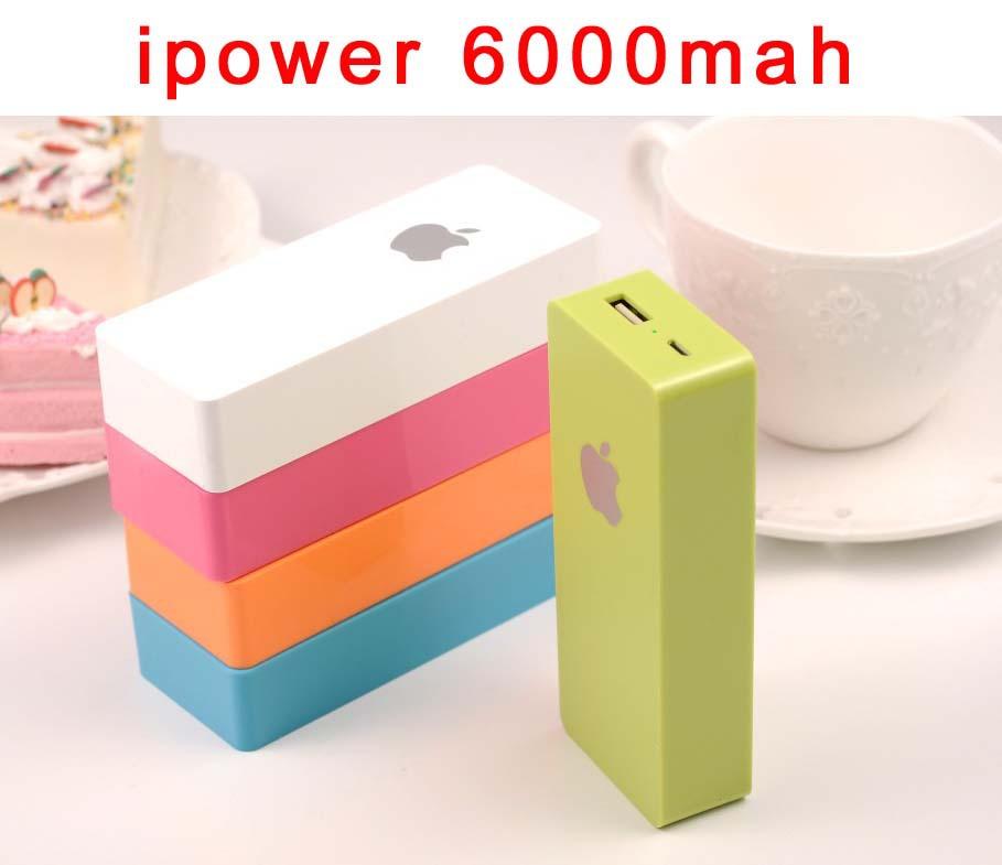 original ipower 6000mah power bank Portable charger for philips xiaomi m4 iphone6 samsung galaxy s3 5 note 11000 mah powerbank(China (Mainland))