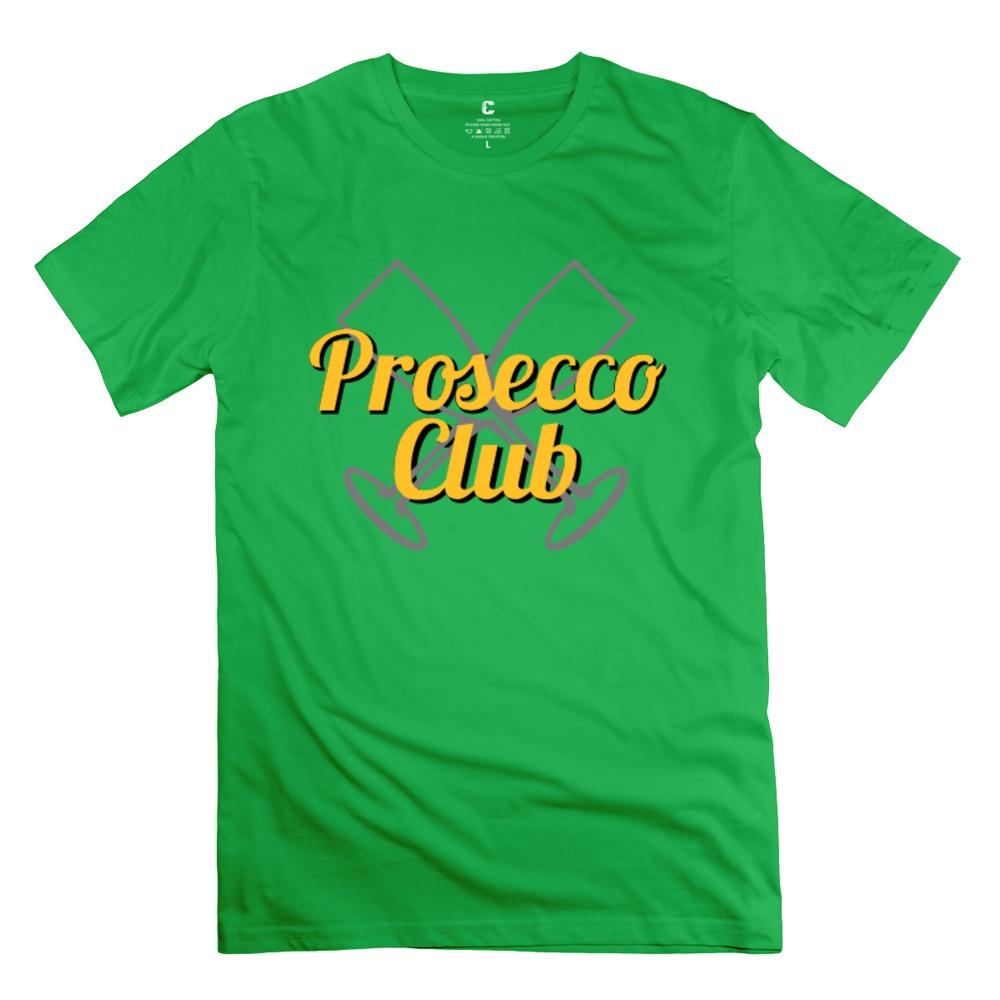 Hip Hop O-Neck Prosecco Club   Champagne men t-shirt Latest tshirt For boy's(China (Mainland))
