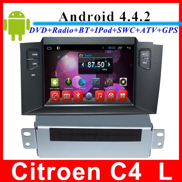 Автомобильный DVD плеер LG 4.4.2 7 Citroen C4 L gps DVD/3g WIFI nuLtimedia автомобильный dvd плеер joyous kd 7 800 480 2 din 4 4 gps navi toyota rav4 4 4 dvd dual core rds wifi 3g