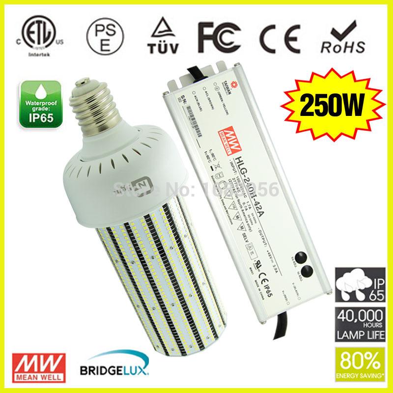 1000W Metal Halide high pressure sodium mercury lamps replacement 250W LED Corn E27 E39 E40(China (Mainland))