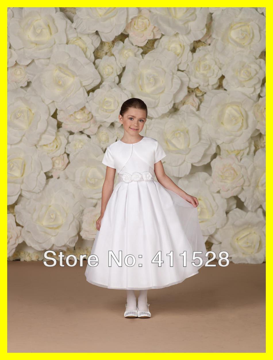 Kids Flower Girl Dresses Wedding Short Macys First Holy Communion Dress Girls Scoop Short Beading A-Line Ankle-Len 2015 In Stock(China (Mainland))