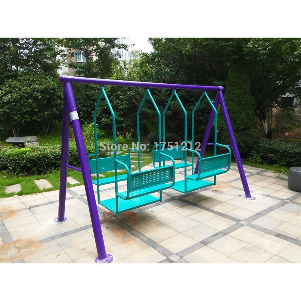 galvanized steel children outdoor swing antirust garden swing for kids