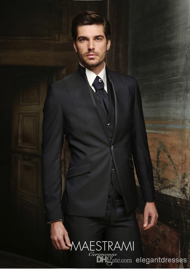 New Arrive - New Arrival 2015 New Slim Fit Groom Tuxedos Suits Groomsman Bridegroom Suits (Jacket+Pants+Tie+Vest) M-97(China (Mainland))