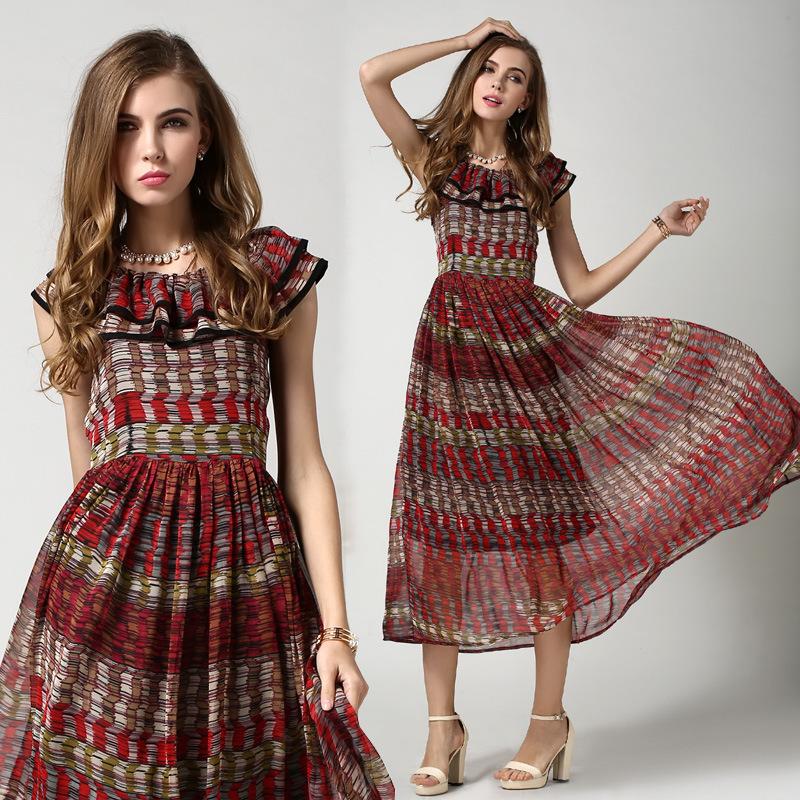 Perfect Ethnic Slim Summer Dress Elastic Fashion African Dresses For Women