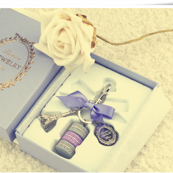 free shipping 2015 Fashion Innovative France Gift box LADUREE Marca dragon birthday gift Creative gifts The car key chain(China (Mainland))