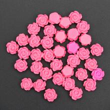 6mm charm flower nail art decoration diy jewelry 3d resin nail stud tips diy romantic rose