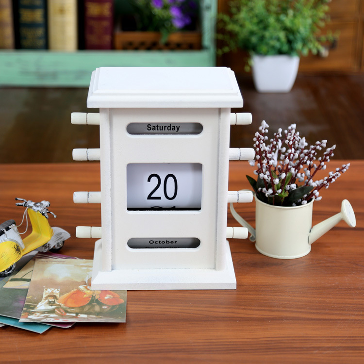 New ZAKKA grocery retro ornaments creative gift box wooden desk calendar promotional 56K-121(China (Mainland))