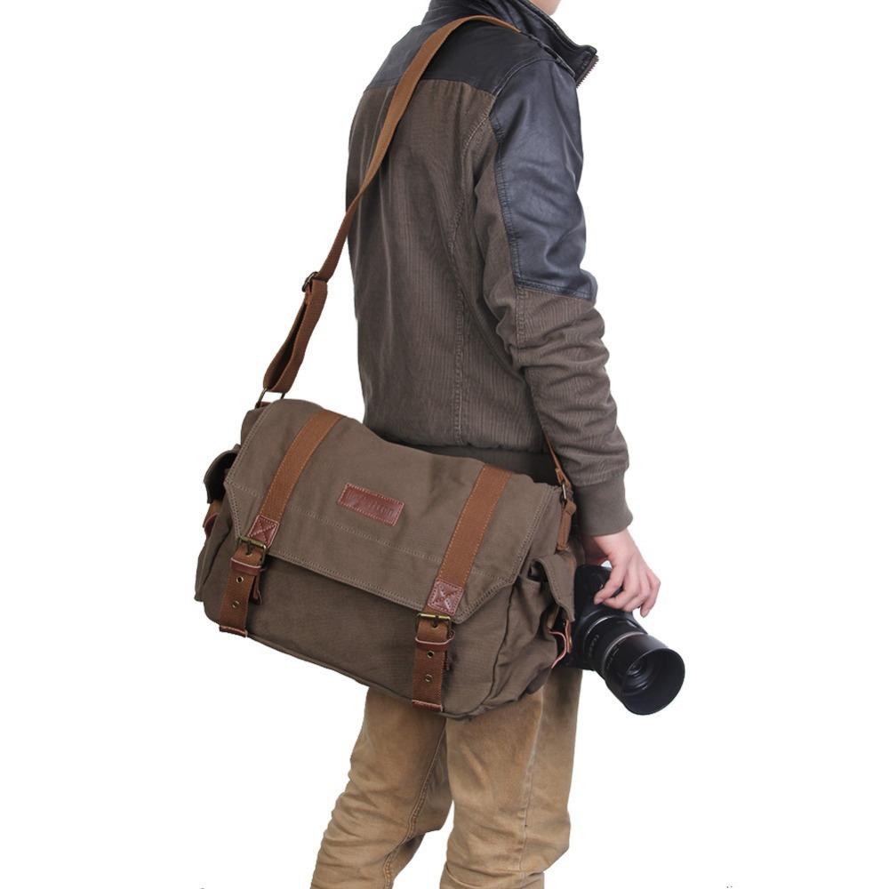 Koolertron 2015 Dslr Slr Camera Canvas Shoulder Bag 117