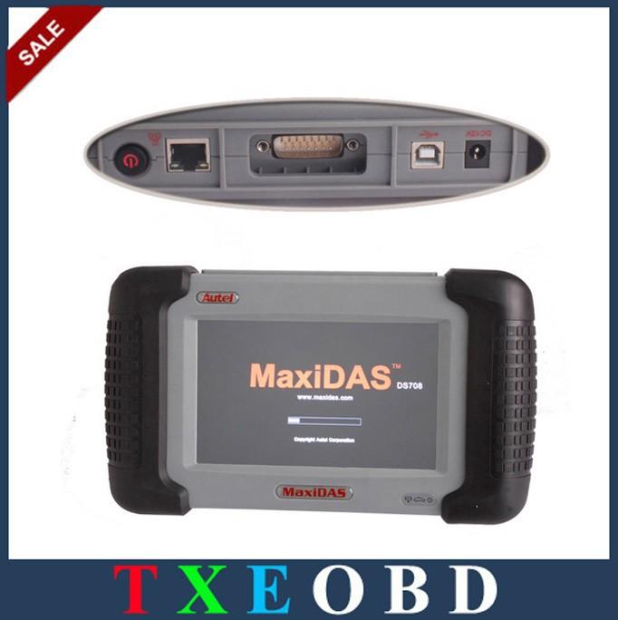 Original Autel MaxiDAS DS708 Automotive Diagnostic DS708 Scanner with Spain Language Free Update Online(China (Mainland))
