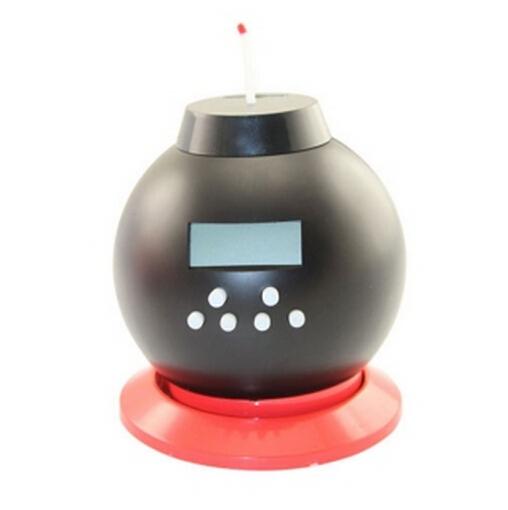 Money Can Bank Bomb Alarm Game LED Clock Vibrating Loud Black(China (Mainland))
