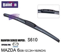 RAINFUN 24+16 dedicated car wiper blade for NEW MAZDA 6(08-12), Car Wiper auto soft windshield wiper, 2 size in one box