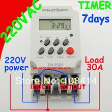 30 А 220 В мини таймер переключатель, 7 дн. программируемый таймер реле бесплатная доставка