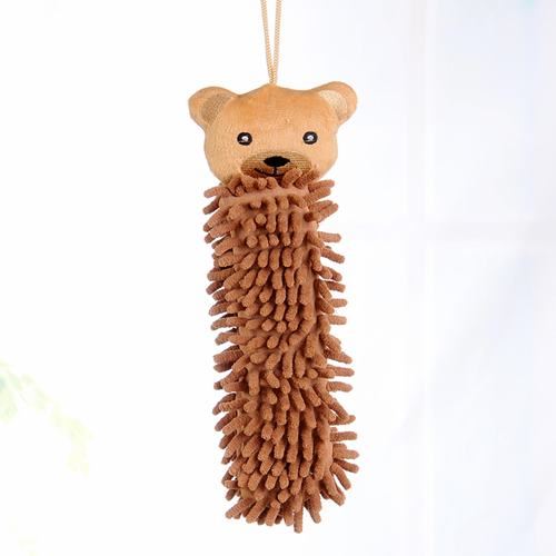 Cartoon Chenille Towel Hanging Wash Hands Tools Kawaii Cleaning Towel Bathromm Kitchen Accessories(China (Mainland))