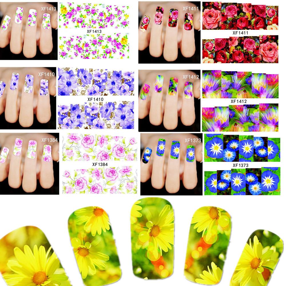 50sheets XF1372-1421 Fashion Hot Designs Nail Stickers Temporary Tattoos DIY Tips Nail Art Decals Manicure Beauty Tools(China (Mainland))