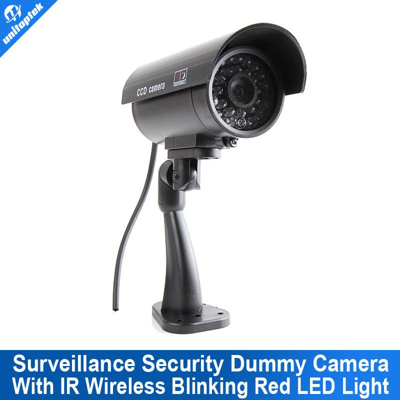 Popular Free shipping Wonderful Outdoor Indoor Fake Surveillance Security Dummy Camera Night CAM LED Light(China (Mainland))