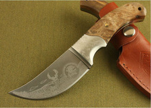 High Quality OEM Browning African Rhino Fixed Blade Hunting Knife 440 Blade Camping Knives sanding Laser