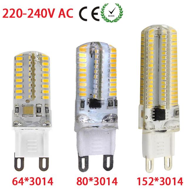 1 x Led Lamp 4W/5W/9W G9 3014 SMD Silicon Crystal Home Lighting AC 220V 230V 240V Chandelier 64/80/152 Leds 3014 SMD Spotlight(China (Mainland))