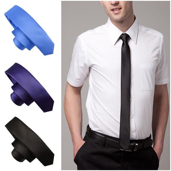 2015 New Style Fashion Neckties Formal Wedding Party Groom Men s Solid Color Gravata Slim Plain