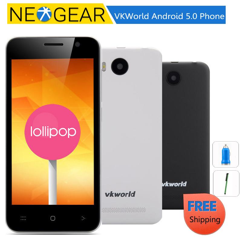 Original VKWorld VK2015 Android 5.0 Phone - 4.5 Inch Quad Core, 1GB RAM, Dual SIM, 2G Quad Band, SD Card Slot(China (Mainland))