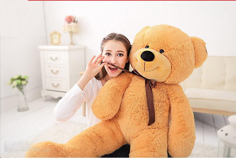 "47""GIANT HUGE BIG STUFFED ANIMAL LIGHT BROWN TEDDY BEAR PLUSH TOYS 120CM / Free Shipping(China (Mainland))"