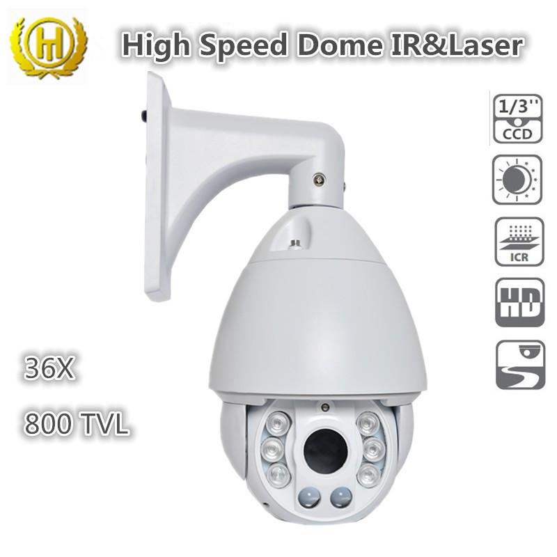 800TVL analog CCD camera sony CCTV DVR Security camera outdoor cctv camera module IR+ Laser Waterproof IP66 36X CCD camera(China (Mainland))