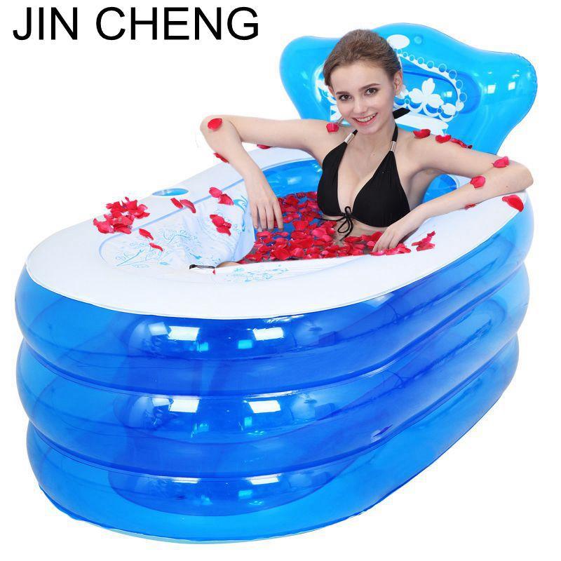 Brand Adult Spa Folding Portable Bathtub Warm Inflatable Bath Tub For Kids Gift(China (Mainland))