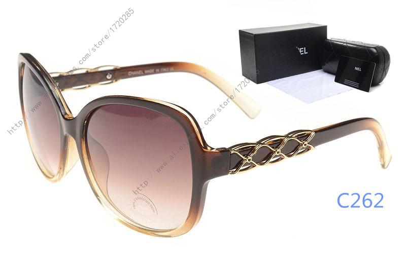 Novel WOMEN'S Outdoor Designer Luxury LADY'S Eyewear CHEAP Sunglasses hut Brand Fashion sun glasses Large frame original box(China (Mainland))