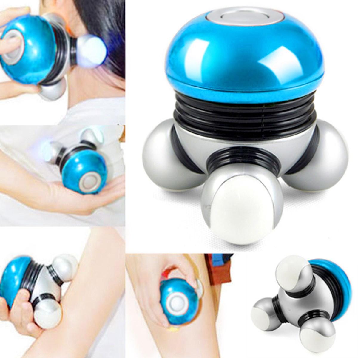 Portable Blue Hotsale Bodysecrets Mini Colorful Hand Held Vibrating Full Body Massage Roller Power Ball Instrument(China (Mainland))