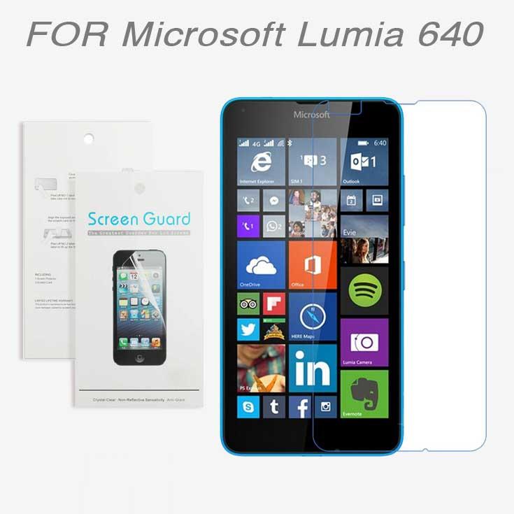 Защитная пленка для мобильных телефонов Microsoft Lumia 640 2015 3 x Microsoft Lumia 640 + защитная пленка для мобильных телефонов 3pcs nokia lumia 730 735