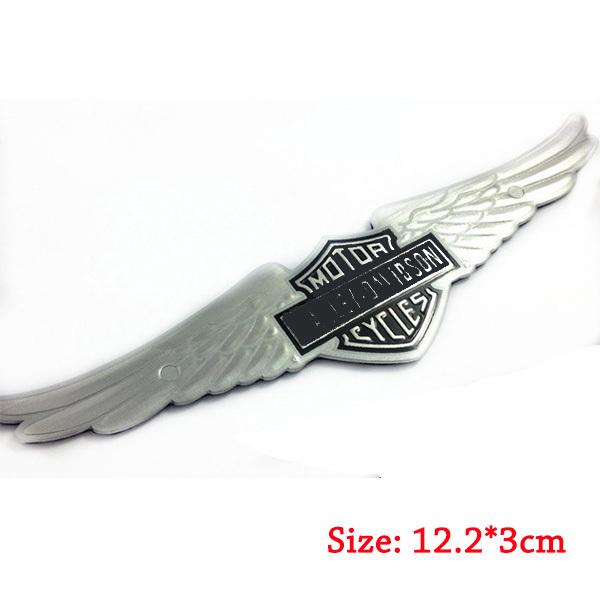 Bendable alloy Emblem Sticker fit for HarleyDavidson Motorcycle eagle wing fender Bibs tank decal bike(China (Mainland))