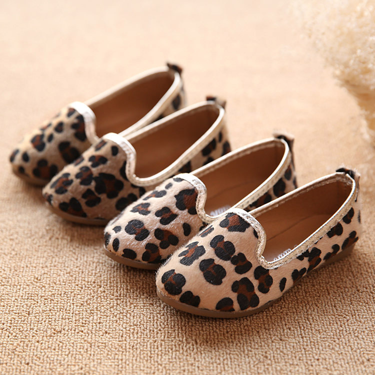 2015 New spring children shoes girls single shoes Horsehair leopard soft bottom kids shoes comfort sneakers(China (Mainland))