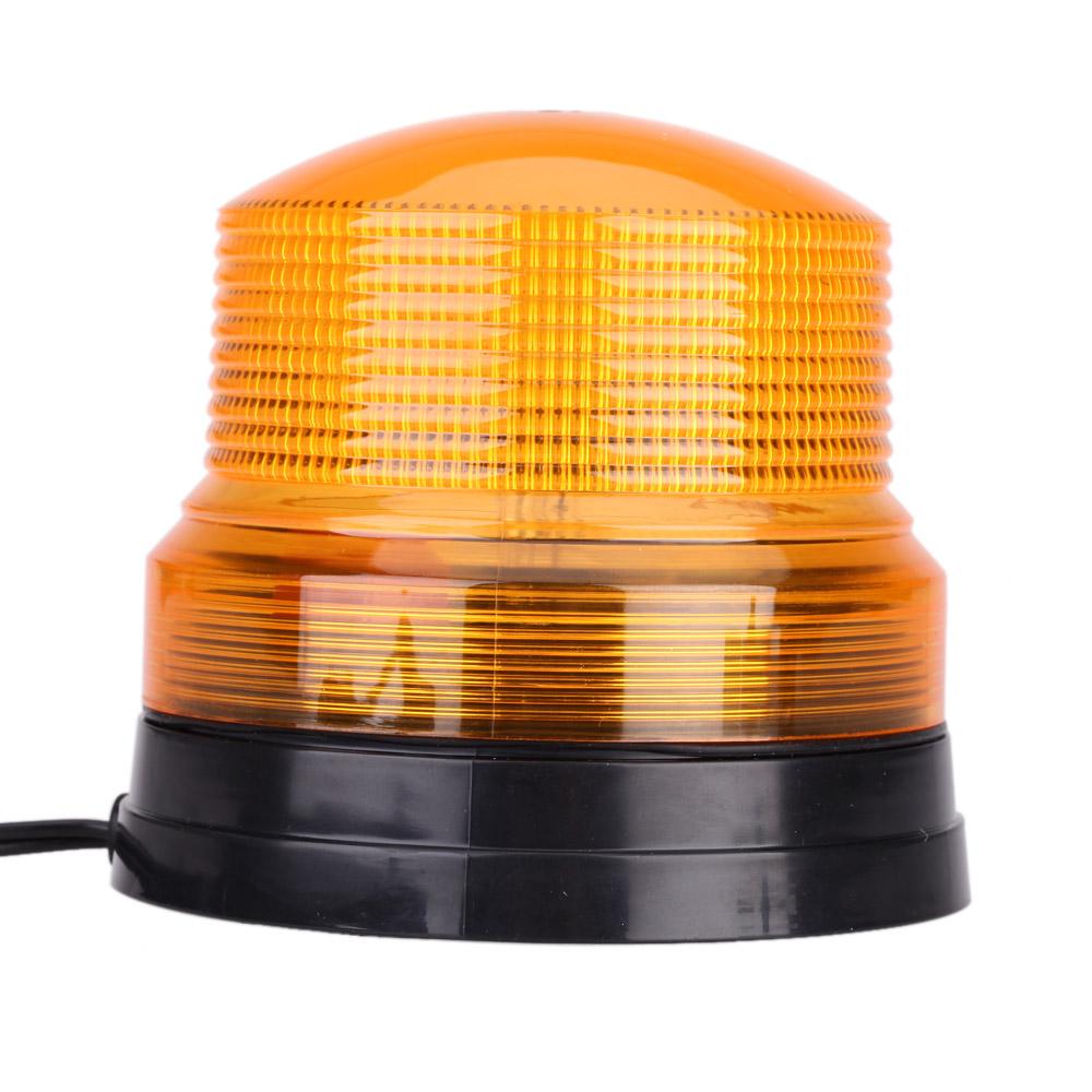 TIROL High Power DC 12V LED Car Vehicle Emergency Light Amber Single Flash Light Magnetic Mount Beacon Strobe Warning Alarm Lamp(China (Mainland))