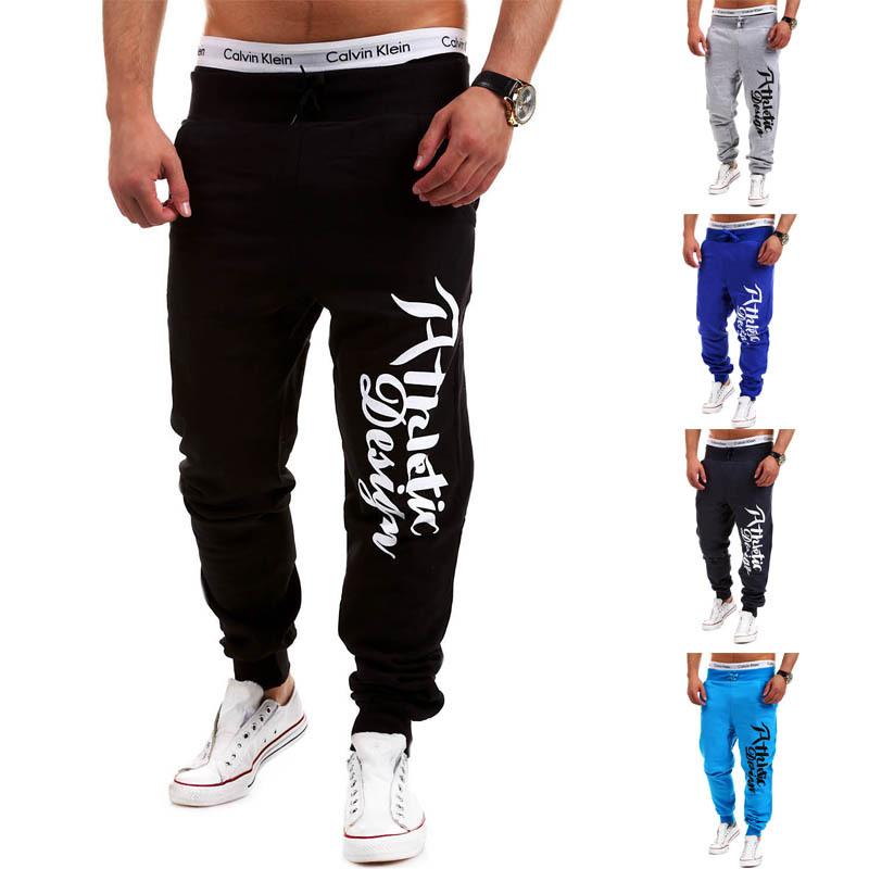 Mens Letter Loose Harem Pants Drawstring Joggers Men Sport Pants Outdoor Sweatpants Men's Hip Hop Cotton Jogger Pants Pantalones(China (Mainland))