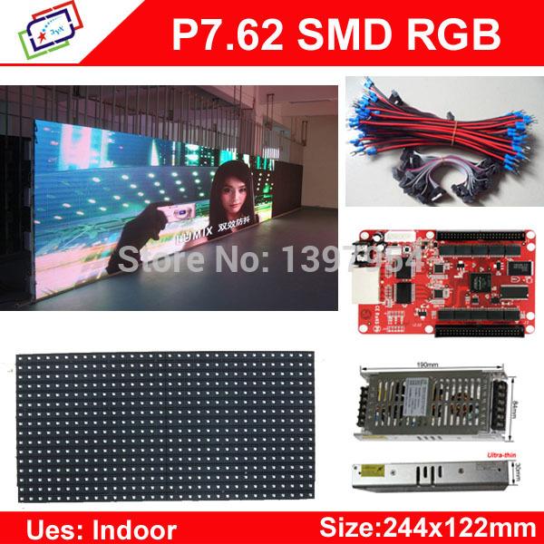 22Pcs P7.62_8S LED 244*122 Indoor Full Color display+3pcs Led Power Supply+1pcs Control Card(China (Mainland))