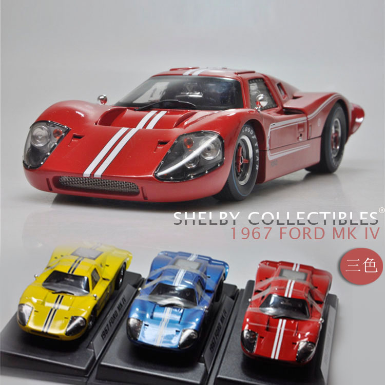 1:18 ShelbyCollectibles GT40 MK IV 1967 Ford Ford car model(China (Mainland))