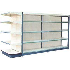 Hot shop shelf panel shelf new design shelf manufacture cheap double-side supermarket shelves(China (Mainland))