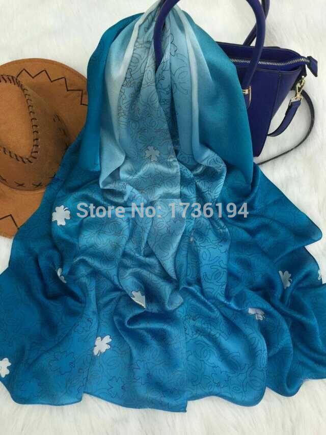 2015 spring scarf small silk mulberry silk georgette satin silk scarf fashion all-match long design scarf female(China (Mainland))