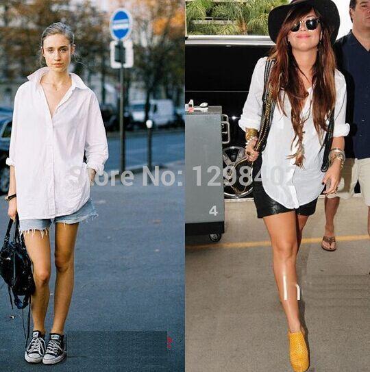 Женские блузки и Рубашки OEM женские джинсовые рубашки 2014