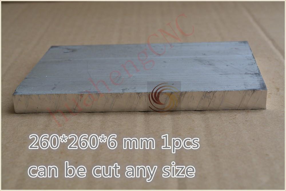 Алюминиевые композитные панели HH 1 260 * 260 * 6 6061 diy cnc 260*260*6mm