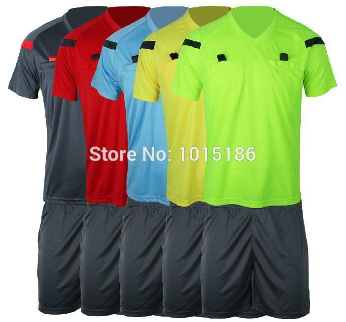 2015 Jersey Soccer Judge uniform professional soccer referee clothing Football referee Jersey black yellow green blue(China (Mainland))