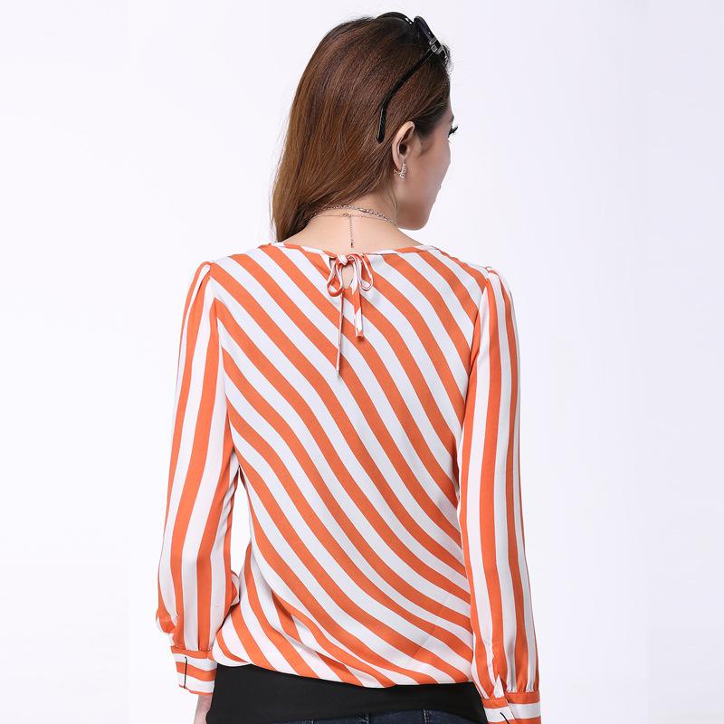 Orange Striped Shirt Womens Orange Striped Shirt