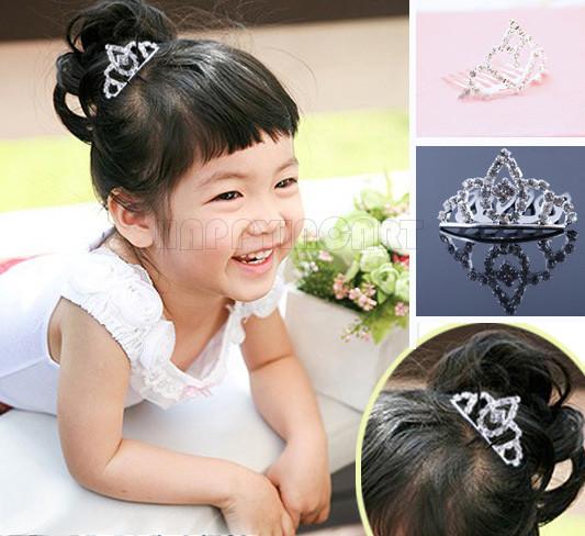 Children Princess Performance Mini Crown Tiaras Bridal Jewelry Insert Comb Hair Accessories Headdress Hairwear Hairpin BHS050(China (Mainland))