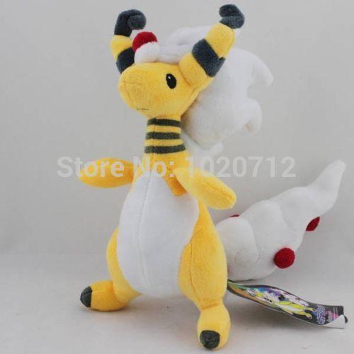 "Pokemon 11"" Mega Ampharos Plush Soft Toy Stuffed Animal Doll Dragon Teddy The Best Gift(China (Mainland))"