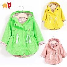 Ad 1-5Y свободного покроя девушки куртки горошек детская верхняя одежда и пальто куртки одежда пальто для девочек дети дети ветровки