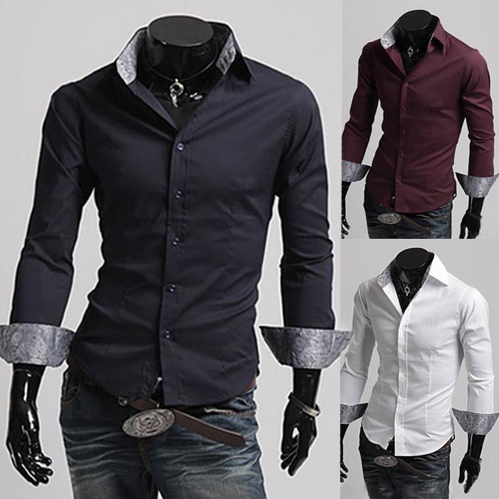 Novo 2015 primavera outono vestido de algodão camisas de alta qualidade Casual Mens camisa homens casuais mais SizeXXXL Slim Fit camisas sociais(China (Mainland))