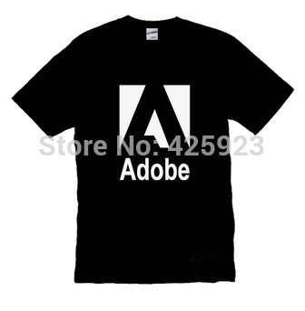 high quality IT series adobe graphic design company man cotton o-neck Customized short sleeve T-shirt(China (Mainland))